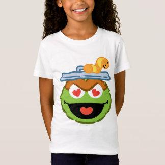 ハート形の目が付いているオスカーの微笑の顔 Tシャツ