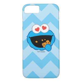 ハート形の目が付いているクッキーの微笑の顔 iPhone 8/7ケース