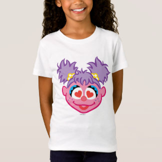 ハート形の目が付いているAbbyの微笑の顔 Tシャツ