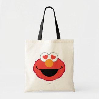 ハート形の目が付いているElmoの微笑の顔 トートバッグ