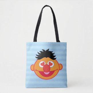 ハート形の目が付いているErnieの微笑の顔 トートバッグ