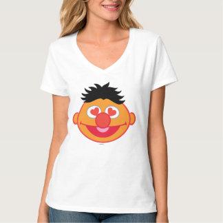 ハート形の目が付いているErnieの微笑の顔 Tシャツ