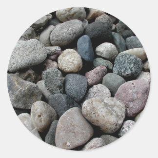 ハート形の石のステッカー ラウンドシール