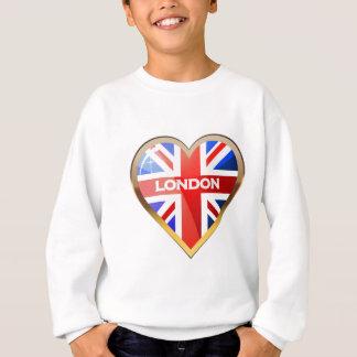 ハート形の英国国旗 スウェットシャツ