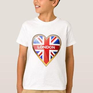 ハート形の英国国旗 Tシャツ