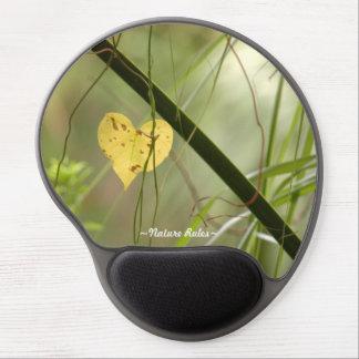 ハート形の葉の自然の規則のゲルのマウスパッド ジェルマウスパッド