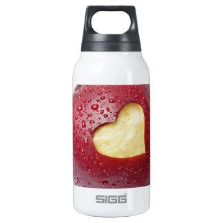 ハート形の記号を用いる新しく赤いりんご 断熱ウォーターボトル
