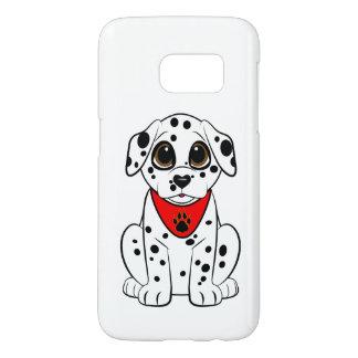 ハート形の鼻を持つDalmatian子犬 Samsung Galaxy S7 ケース