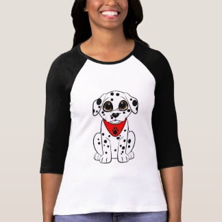 ハート形の鼻を持つDalmatian子犬 Tシャツ
