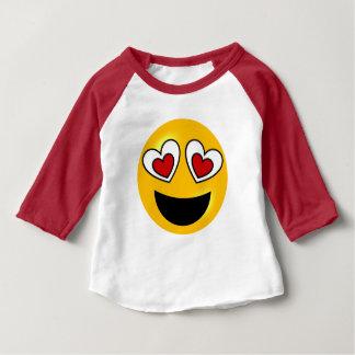 ハート愛Emoji ベビーTシャツ