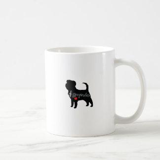 ハート犬の品種初恋のアーフェンピンシャー コーヒーマグカップ