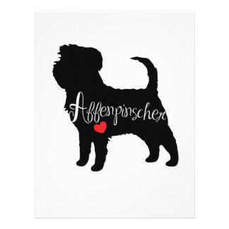 ハート犬の品種初恋のアーフェンピンシャー レターヘッド