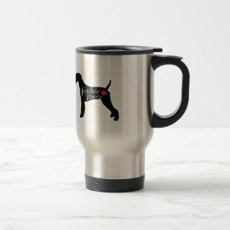 ハート犬の品種愛のAiredaleテリア トラベルマグ