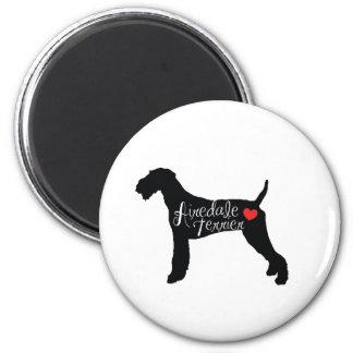 ハート犬の品種愛のAiredaleテリア マグネット