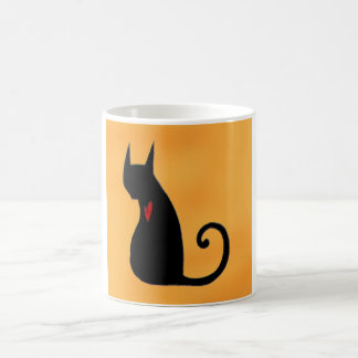 ハート猫のマグ コーヒーマグカップ