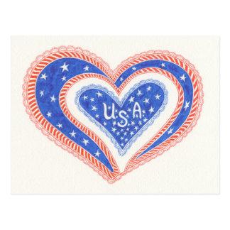 ハート米国の郵便はがき ポストカード