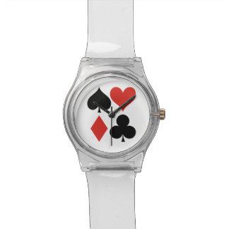ハート踏鋤ダイヤモンドクラブカスタムな子供の腕時計 腕時計