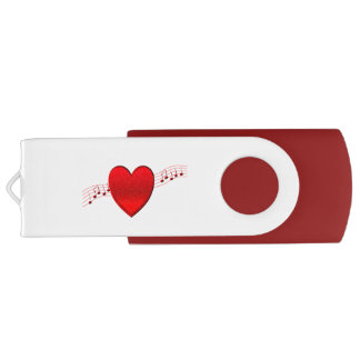 ハート音楽 USBフラッシュドライブ