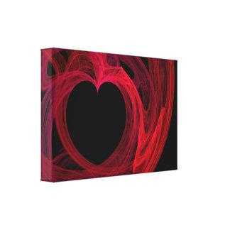ハート257149のDIGITALのフラクタルの抽象芸術えんじ色BLA キャンバスプリント