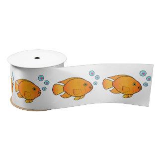 ハート3インチのオウムの魚は泡立ちます サテンリボン