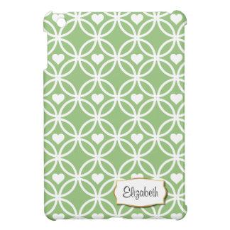 ハート|のiPad Miniケースの緑の永遠の円 iPad Miniカバー
