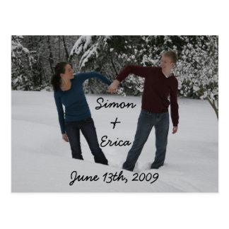 ハート、サイモン&Erica、2009年6月13日 ポストカード