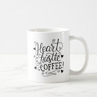 ハート、ハッスルおよびコーヒー コーヒーマグカップ