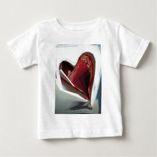 ハート(パックからaは煙ります) ベビーTシャツ
