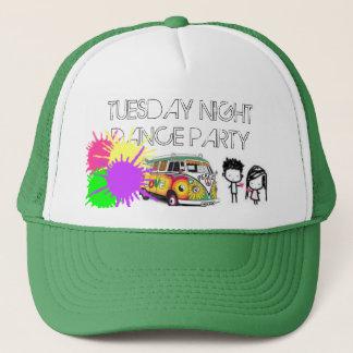 ハート、ヒッピー13、paintsplatter、火曜日NIGHTD… キャップ