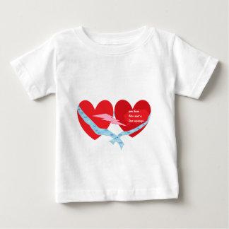 ハート ベビーTシャツ