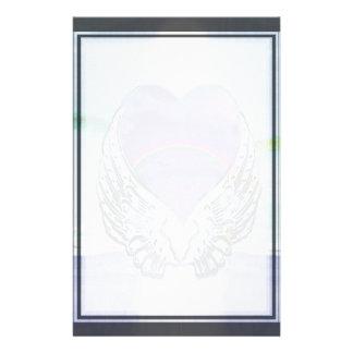 ハート、天使の翼及び海 便箋