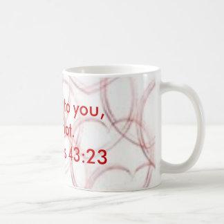 ハート、平和はあなたの恐れにないあります。  ~Genesisの43:23 コーヒーマグカップ