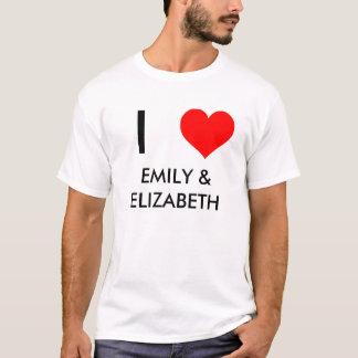 ハート、I、エミリー及びエリザベス Tシャツ