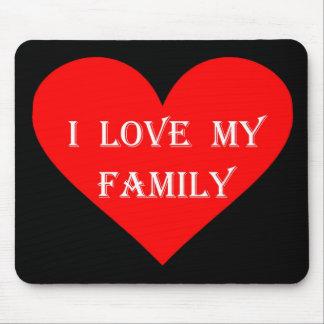 ハートI愛私の家族 マウスパッド