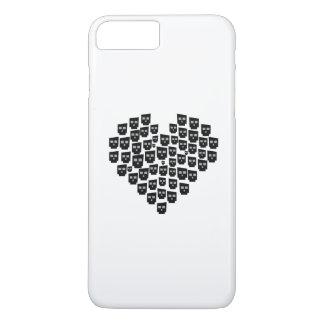 ハートXのスカル iPhone 8 PLUS/7 PLUSケース