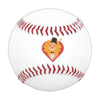 ハートZjrz1の帽子を持つライオン 野球ボール