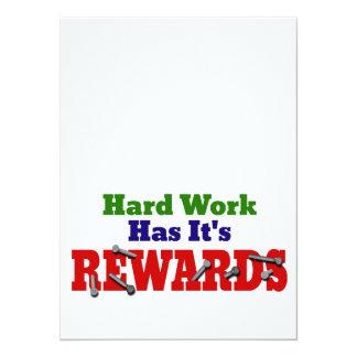ハードワークの感謝 カード