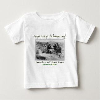 ハードワークの独身 ベビーTシャツ