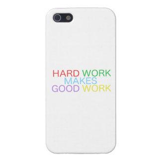 ハードワークはよい仕事を作ります iPhone SE/5/5sケース