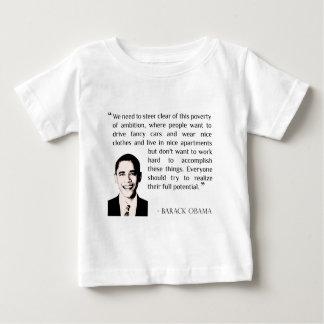 ハードワーク、感動的なバラック・オバマの美徳 ベビーTシャツ