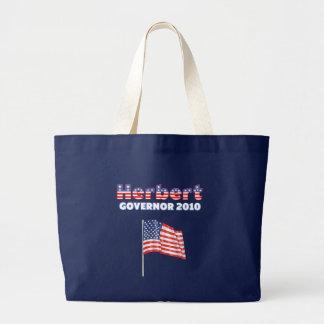 ハーバートの愛国心が強い米国旗2010の選挙 ラージトートバッグ
