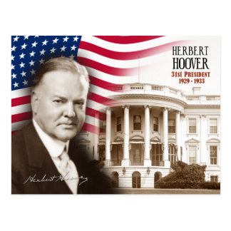 ハーバート・フーヴァー-米国の第31大統領 ポストカード