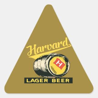 ハーバードラガービール 三角形シール