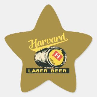 ハーバードラガービール 星シール