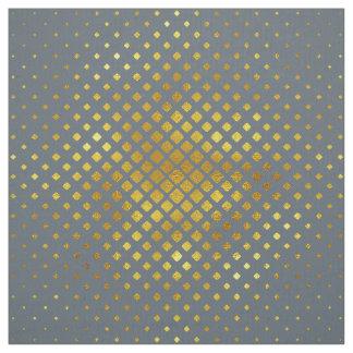 ハーフトーンのダイヤモンドパターン金ゴールド ファブリック