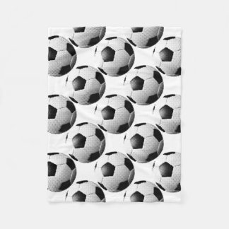 ハーフトーンのフットボールの別名サッカーボールの⚽ フリースブランケット