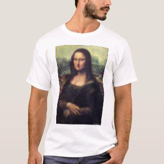 ハーフトーンのモナ・リザ Tシャツ