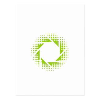 ハーフトーンパターンが付いている写真撮影の開き ポストカード
