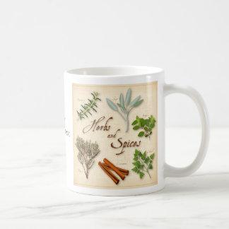 ハーブおよびスパイス、ローズマリーの賢人、タイム、シナモン コーヒーマグカップ