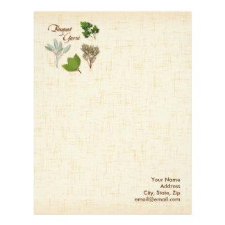 ハーブの花束のレシピ、湾、タイム、賢人、パセリ レターヘッド